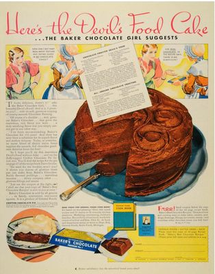 A roundup of retro cake ads--what the Dahlias were seeing in their magazines
