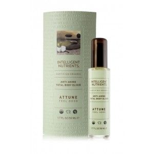 || Certified Organic Total Body Elixir: Attune—Feel Good - $32 || Seven luxurious, hydrating, anti-aging, all over body tonics – designed to promote relaxation, stimulation and self-healing as a massage oil and as a moisturizer for certified organic, healthy skin. Created to feed and protect the skin, these antioxidant rich elixirs contain Intellimune Seed Oil Complex to improve skin quality, promoting even skin tone, firmness and luminosity.