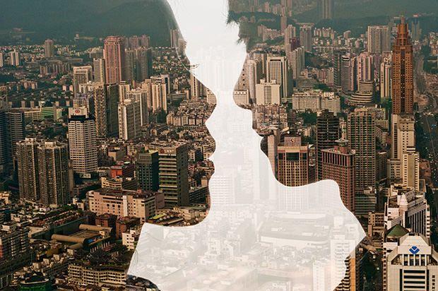 reflective city portraits