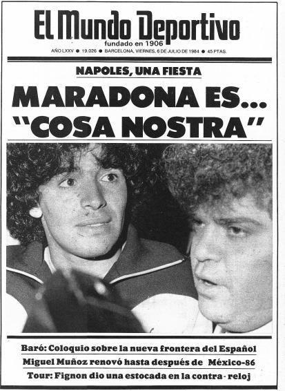 5 luglio 1984: Maradona a Napoli, la prima pagina maliziosa del Mundo Deportivo