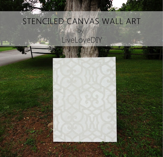 106 best stenciled canvas art images on pinterest wall stenciling chez sheik moroccan stencil as canvas wall art by virginia livelovediy great stencil wall artdiy solutioingenieria Choice Image