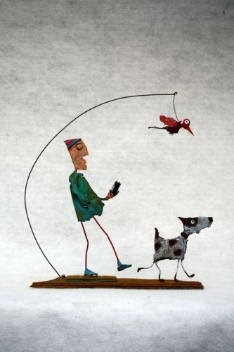 Les Rêveries du promeneur solitaire, Collas,assemblages, sculpture