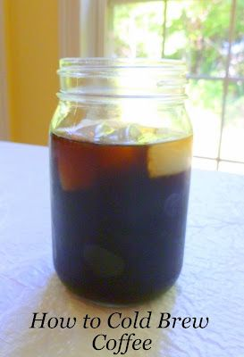 How To Cold Brew Coffee; super easy and makes a weeks worth of smooth, less acidic coffee