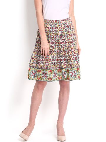 Fabels by Fabindia Multicoloured Flared Skirt