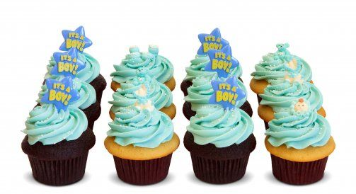 Trophy Cupcakes Custom Baby Shower Cupcakes - Boy