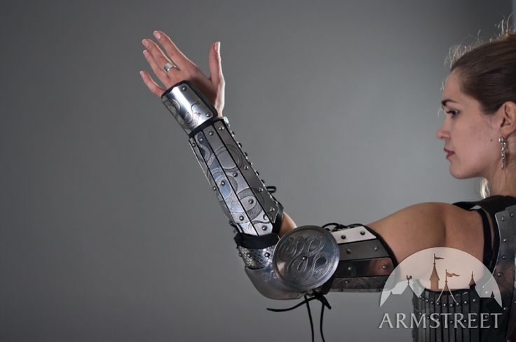 Fantasy etched  armor arm