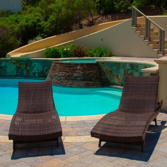 Give your body the everlasting relaxation with the Brayden Studio Mathena Chaise Lounge (Set of 4). These chairs can be placed at home, your patio, at the beach, a lake house, beside a swimming pool, or any other tropical or coastal area.<br/><br/><br/>Made from top quality woven wicker and a powder coated iron frame, the HMathena Chaise Lounge is sturdy and lasts for many years. Swooping curves and slanting feet form the chairs' design highlights. The chairs ...