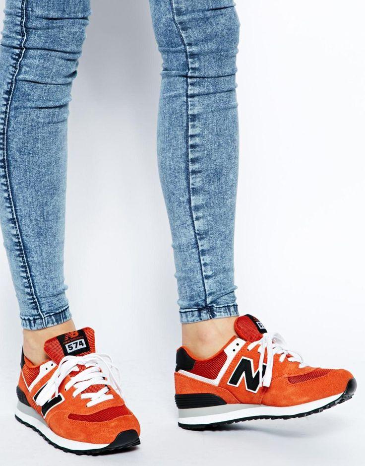 Image 4 of New Balance Orange/Blue 574 Trainers