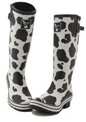 Ladies Wellies Cow Print design by Evercreatures. i love this boots. They are very comfortable.