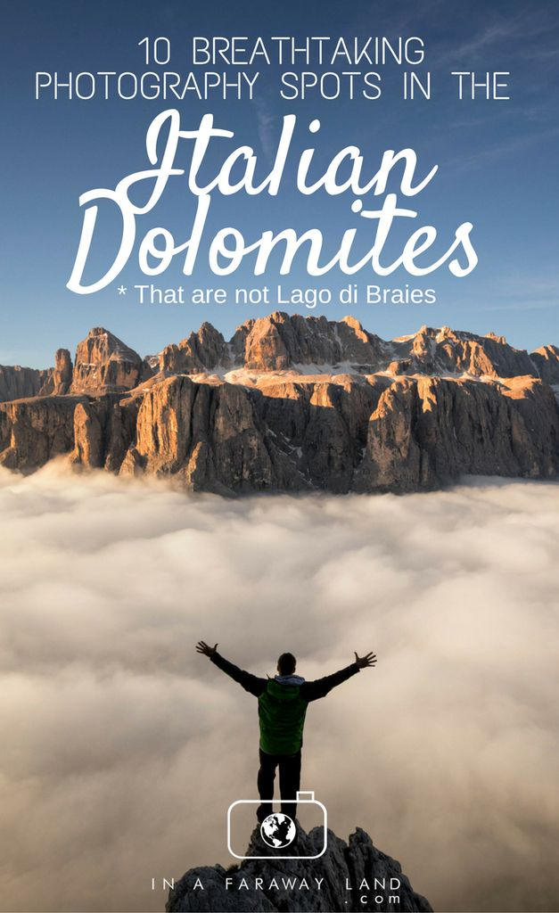 A list of some of the best and most popular photography locations in the Italian Dolomites that aren't Lago Di'Braies (Pragser Wildsee). Information on where to stay in the Italian Dolomites, a map of northern Italy and where the best views are.
