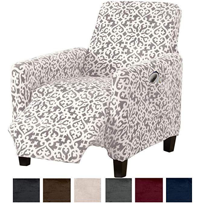 Amazon Com Great Bay Home Modern Velvet Plush Strapless Slipcover Form Fit Stretch Stylish Furniture Cover Protector Furniture Slipcovers Recliner Slipcover