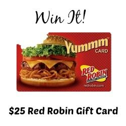 Enter to win a $25 Red Robin Gift Card.  The #giveaway is open to US residents only and ends August 20, 2014.
