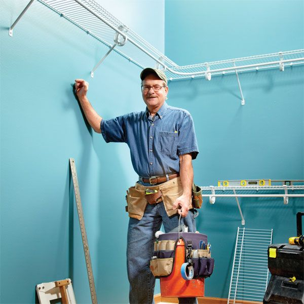 Expert tips on how to install wire shelving.