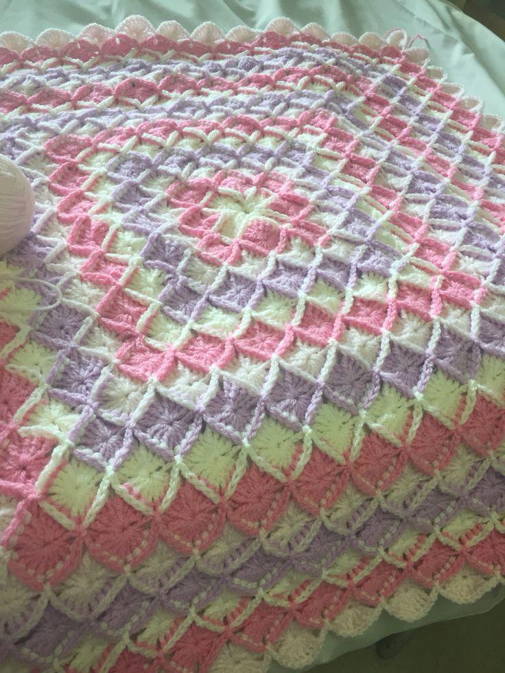 Bavarian stitch crochet blanket