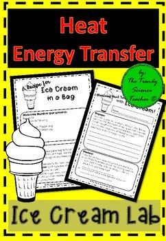Your students are sure to LOVE this lab! Who wouldn't? It includes ICE CREAM! Teach heat energy, phase changes, and energy transformations with this 5-E ice cream lab activity. Your students will begin with an ENGAGE question, followed by an EXPLORE activity (making ice cream), an EXPLANATION of what took place in the lab and end with an EXTENSION research question.Topics Covered:-Types of Energy-Heat Transfer-Phases of Matter/Phase ChangesIncluded in this Purchase:-Ice Cream Recipe-Lab…