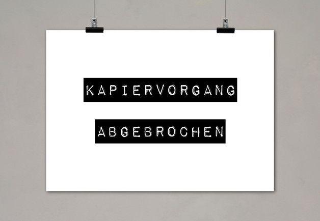 Typo Digitaldruck / typo artprint, wise words, fun words by Einsaushundert via DaWanda.com