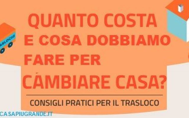 il trasloco: da 3 a 6 volte nella vita degli italiani #trasloco #immobili #infografica