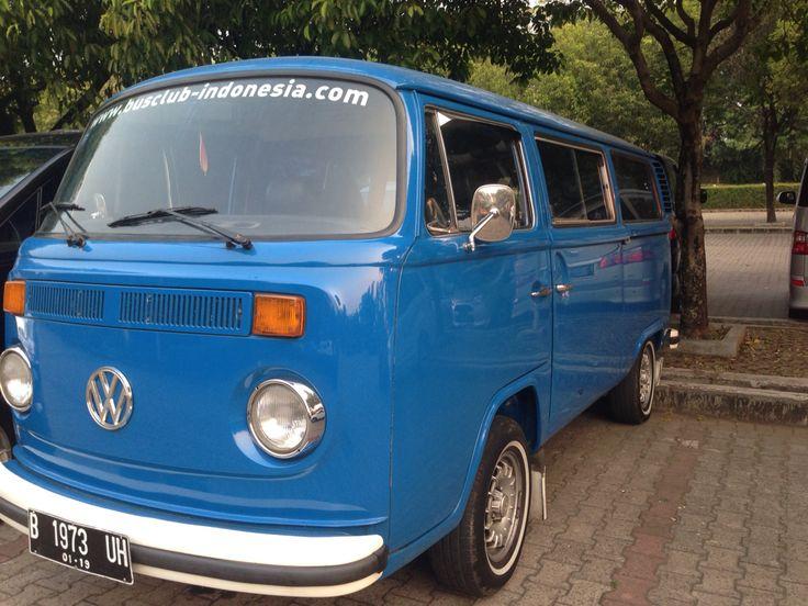 Blue vw combi