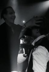 Marilyn Manson & Johnny Depp. These are my two favorite people.