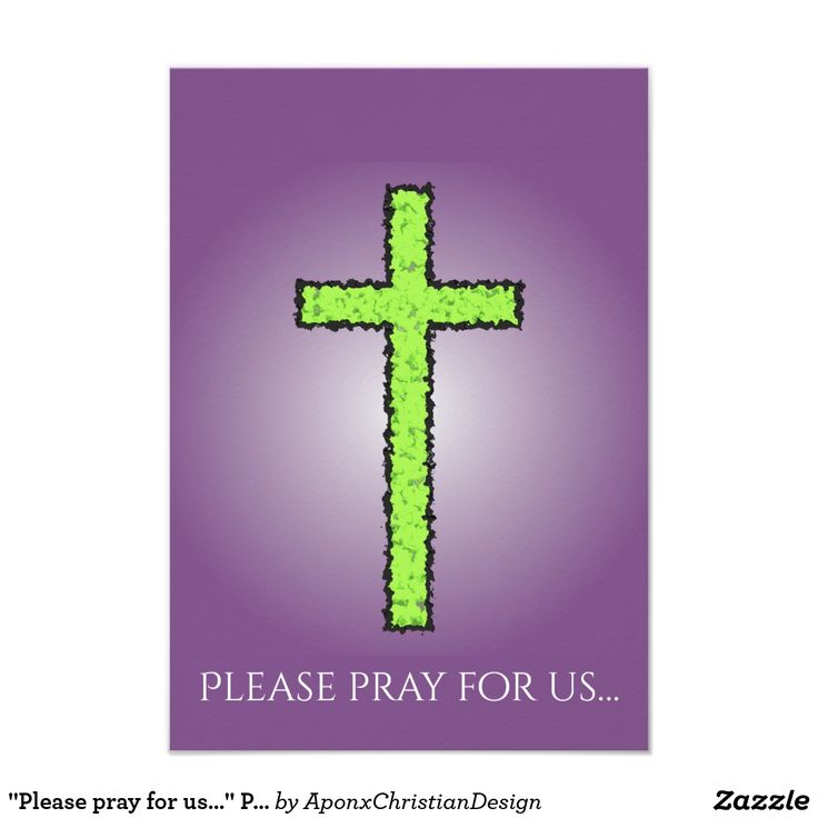 """Please pray for us…"" Prayer Request Card"