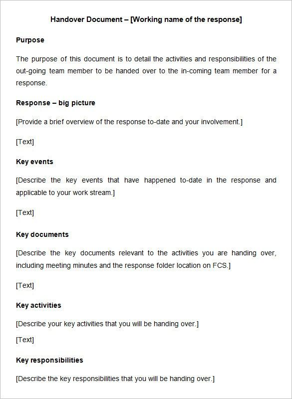 11 Free Handover Report Templates Word Excel Pdf Formats