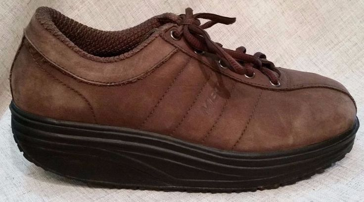 MBT Brown Leather Sneakers Sz. 6 (US M) or Sz 8 (US W) #MBT #FashionSneakers