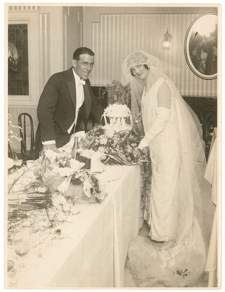 Hugh Ward Junior and Muriel (nee Holdsworth) at the reception