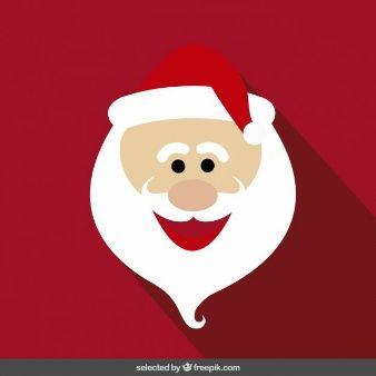 Cara de dibujos animados divertido de Papá Noel