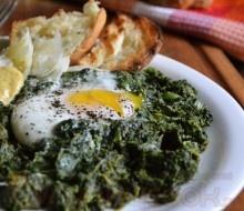 Βουτυράτο Σοτέ Σπανάκι με Αυγά  -