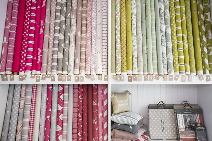 a selection of our fabric rolls
