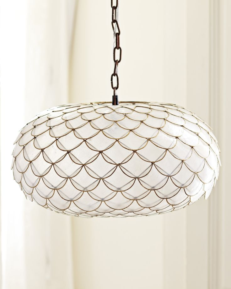 Check out the Capiz Scalloped Chandelier and the rest of our unique Lighting at Serena and Lily.  sc 1 st  Pinterest & 199 best Lighting! images on Pinterest | Ceiling fixtures Light ... azcodes.com