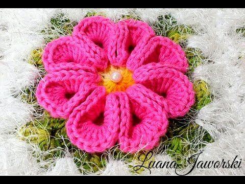 Flor Real Crochê | Passo a Passo | Luana Jaworski - YouTube
