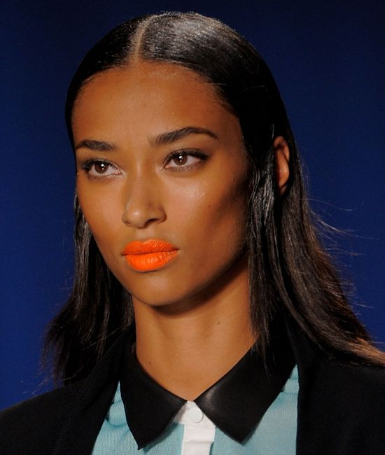 Orange Lipstick Trend Spring 2014   New York Fashion Week   POPSUGAR Beauty