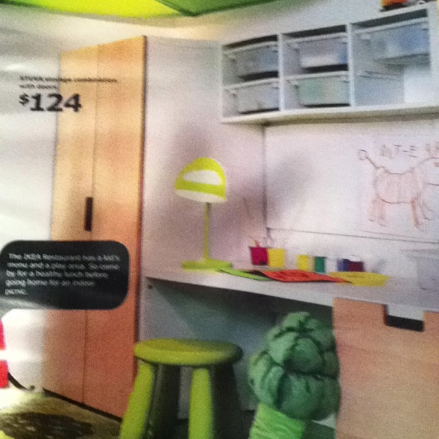 Ikea Stuva kids desk area