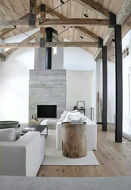 Neutral greys and wood ideas