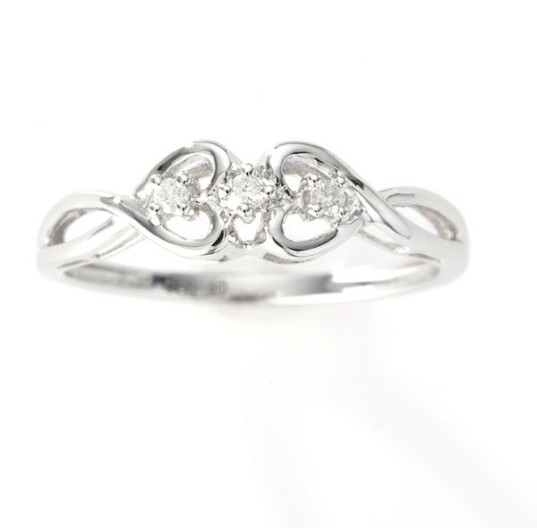 Beautiful Promise Rings - 14k White Gold Diamond Heart Promise Ring only $198.00 - Promise Rings  i think this is precious