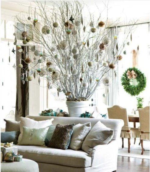 Christmas Decorations With Tree Branches: 92 Best Images About Decorative Branches On Pinterest