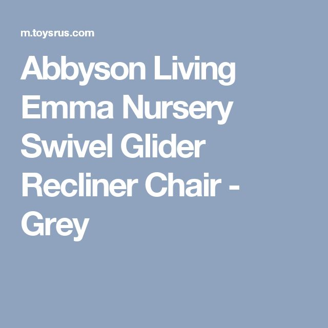 Abbyson Living Emma Nursery Swivel Glider Recliner Chair - Grey