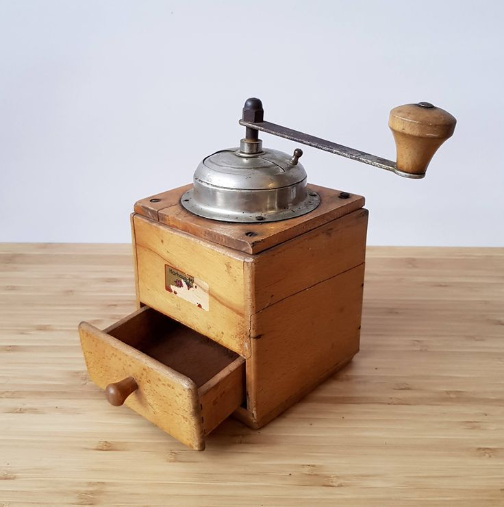 A Vintage Coffee Grinder Retro Boho Farmhouse Kitchenware  Old Coffee Grinder  Wooden Coffee Grinder by Route46Vintage on Etsy