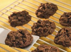 Hershey double chocolate mint chip cookies