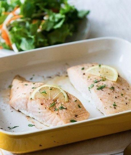 Запеченное филе лосося