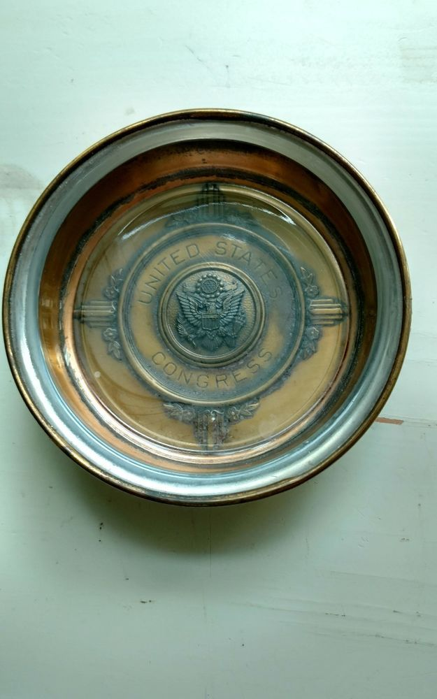 Vintage United States Congress Brass and Glass Ashtray | Collectibles, Historical Memorabilia, Political | eBay!