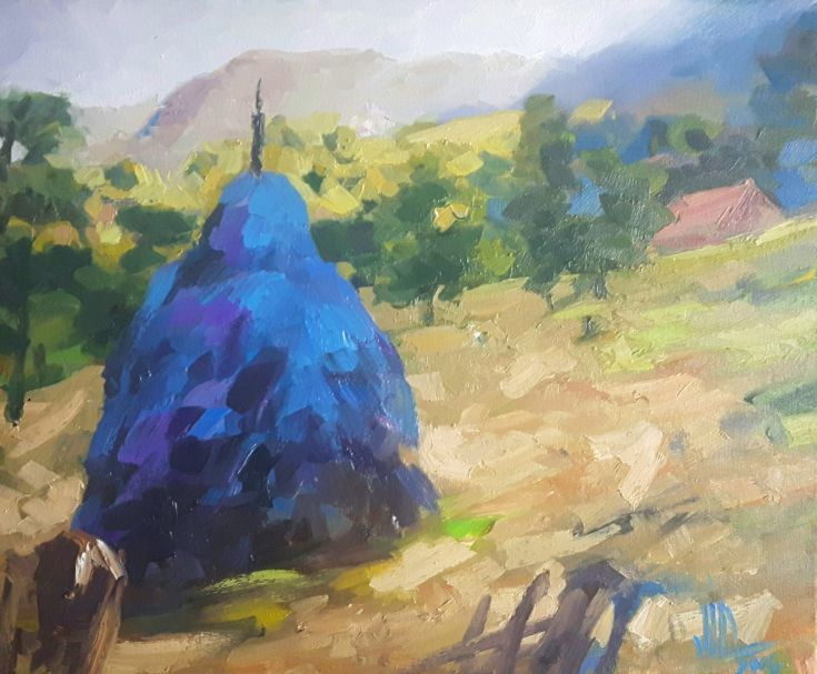 Buy Blue haystacks in Apuseni, Oil painting by Vali Irina Ciobanu on Artfinder. Discover thousands of other original paintings, prints, sculptures and photography from independent artists.