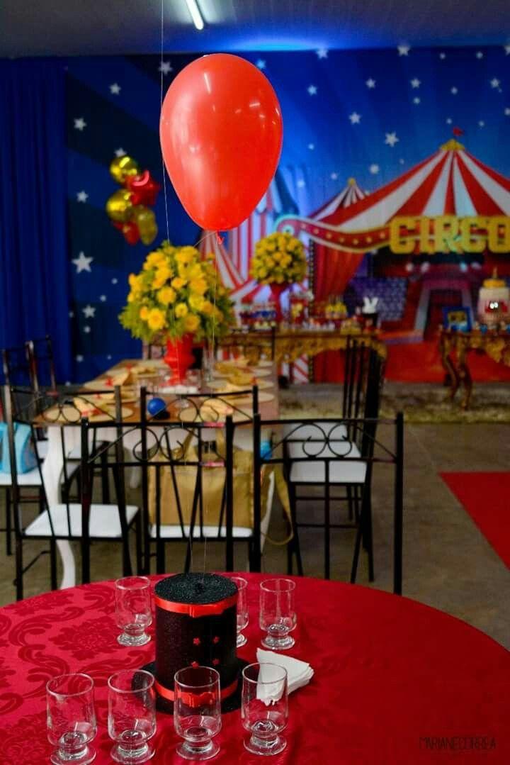 Pin De Marcelo E Silvia Carvalhais Em Circo Festa Com Tematica