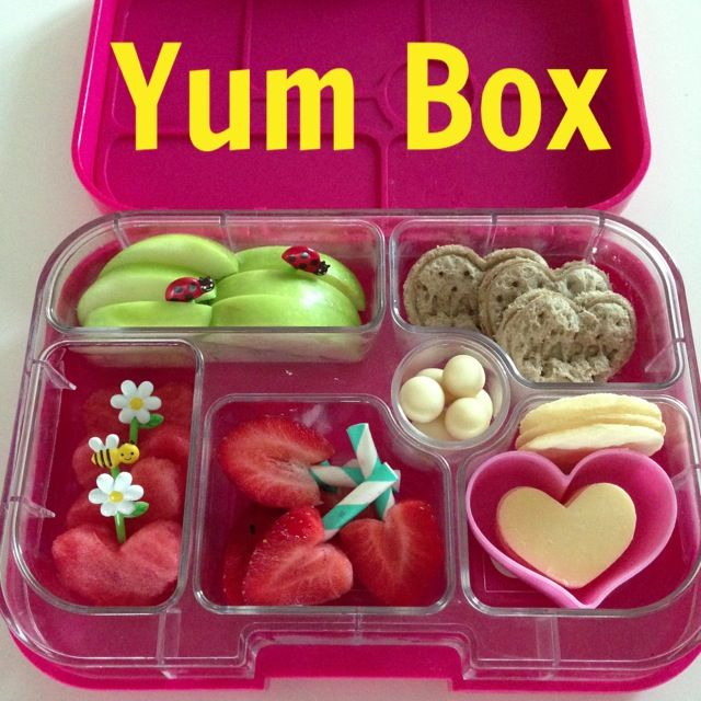 a love heart themed bento yum box for my little love kids food pinterest. Black Bedroom Furniture Sets. Home Design Ideas