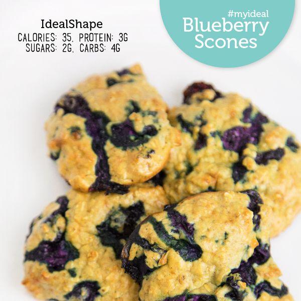 Low carb, low calorie Blueberry Scones! Ingredients: 2 Scoops Vanilla ...