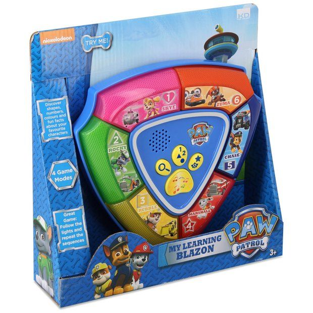 Buy Paw Patrol Learning Blazon Game at Argos.co.uk - Your Online Shop for Games and puzzles, Clearance Toys, Toys.