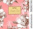 stock vector : vintage flower background