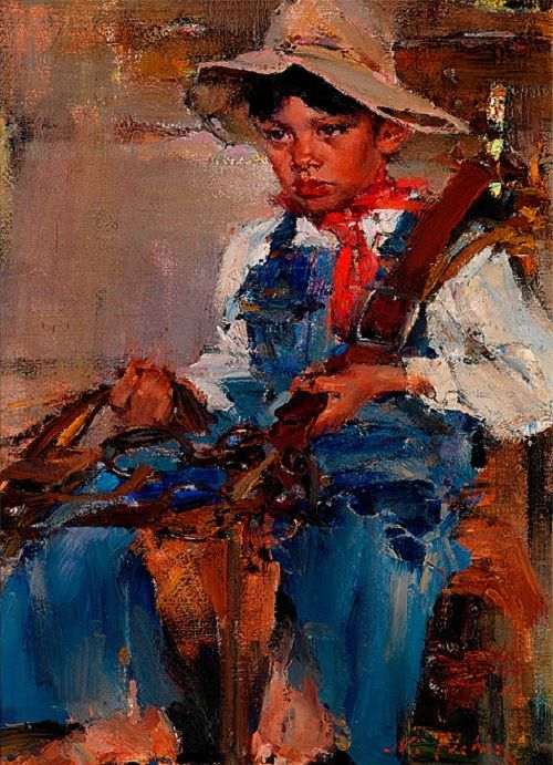 «Маленький ковбой». 1940г.  Н.Фешин .