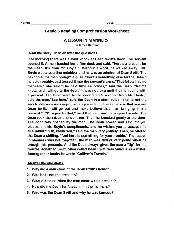 Pdf Reading Comprehension Worksheets Best Coloring Pages For K